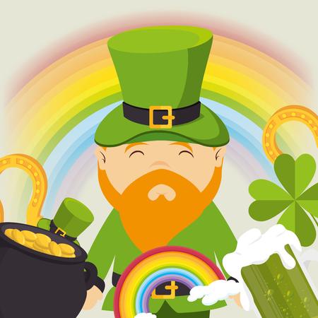 patrick: Saint patrick day celebration graphic design, vector illustration eps10 Illustration
