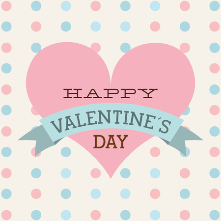 14 feb: happy valentines day design, vector illustration  graphic