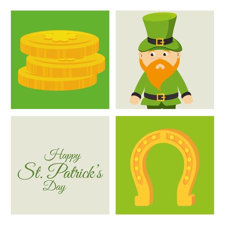 patrick: Saint patrick day celebration graphic design, vector illustration