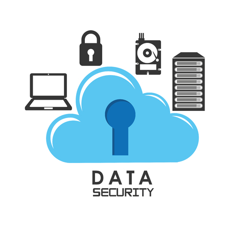 protection icon: data security design
