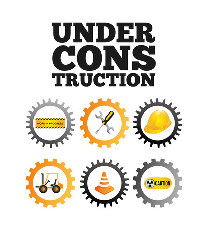 tractor warning: under construction design