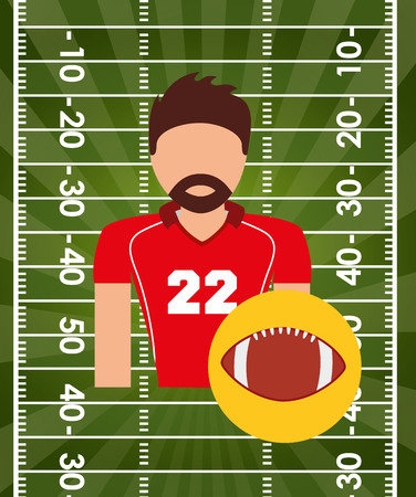 quarterback: american football design Illustration