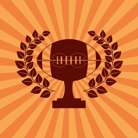 touchdown: american football design Illustration