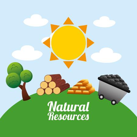 diseño de los recursos naturales Ilustración de vector