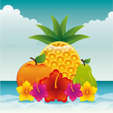tropical fruit: tropical paradise design