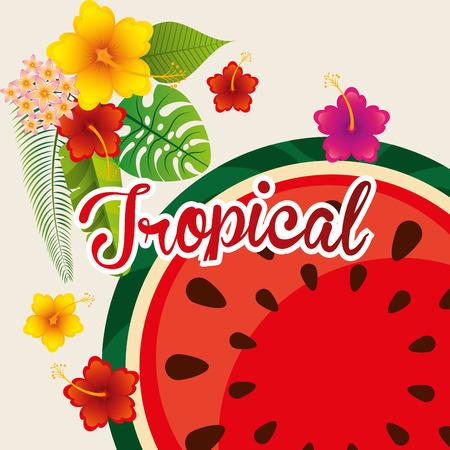 exotic fruit: tropical paradise design