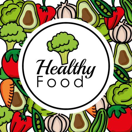 fruit and vegetable: healthy food design Illustration