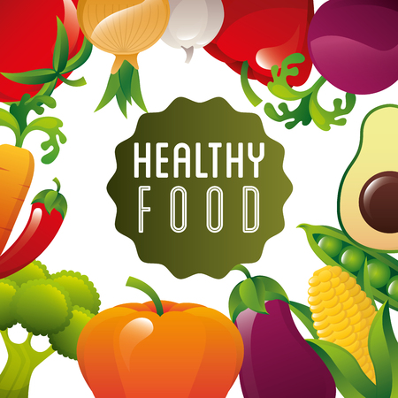 food: healthy food design Illustration
