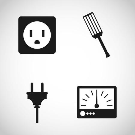 tester: electricity concept design, vector illustration eps10 graphic Illustration
