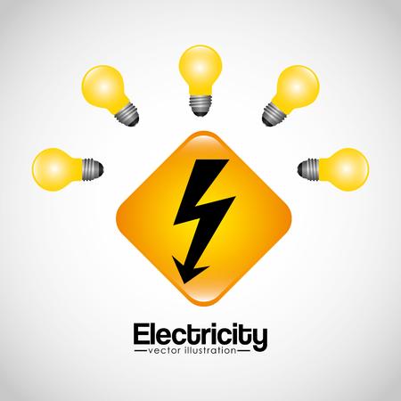 light transmission: electricity concept design