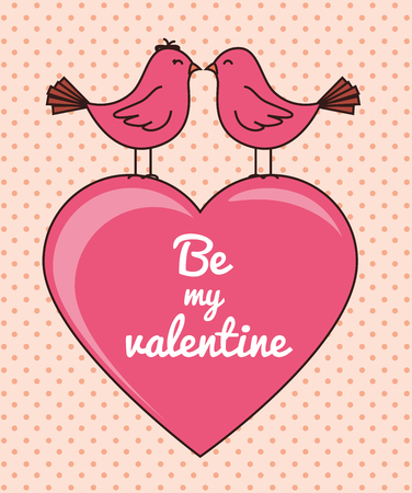 hapiness: Valentines day romantic graphic design