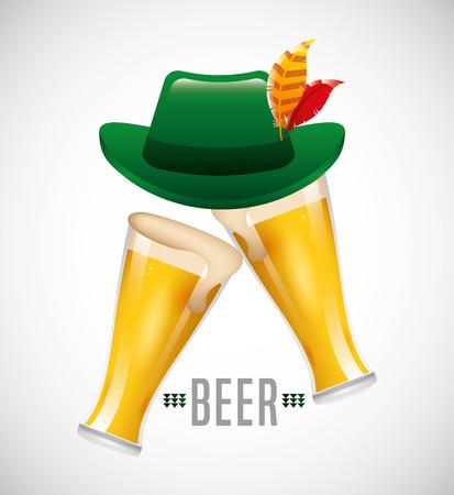patrics: cold beer design Illustration