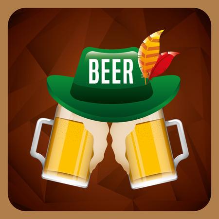 cold beer: cold beer design Illustration
