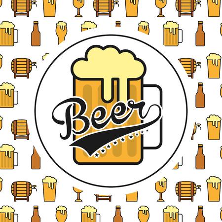 bootle: cold beer design Illustration