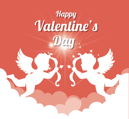 romanticism: Valentines day lovely card  graphic design