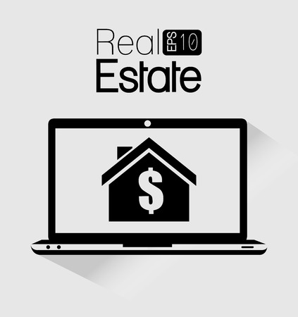 real estate house: Real estate business graphic design Illustration