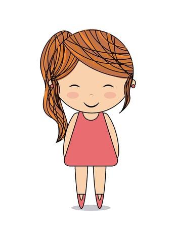 greet: cute girl design, vector illustration eps10 graphic