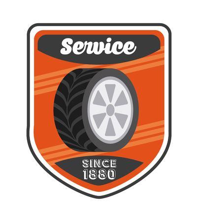 service station: service station design, vector illustration  graphic