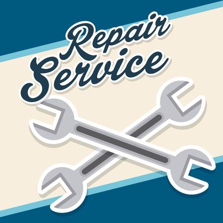 americana: service station design, vector illustration  graphic