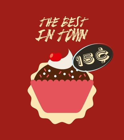 delicious cupcake design, vector illustration  graphic
