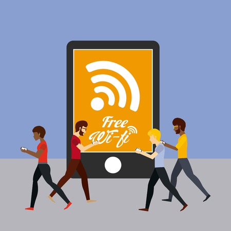 wifi connection design, vector illustration  graphic