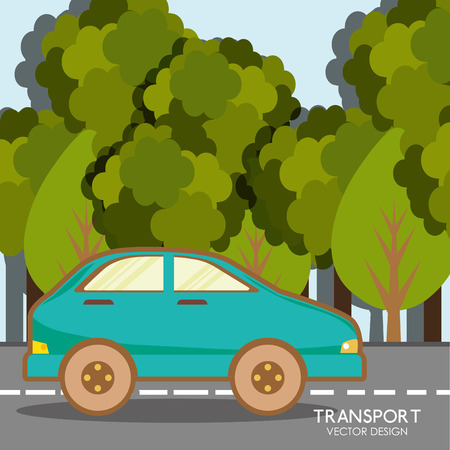 solutions freeway: Vehicle transport icon graphic design, vector illustration