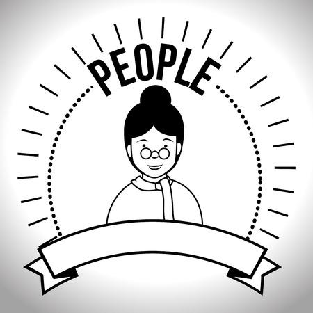 user friendly: People profile retro design, vector illustration graphic