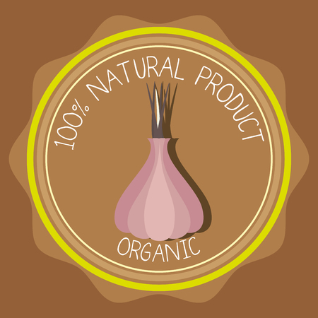 Natural food product grahic design, vector illustration