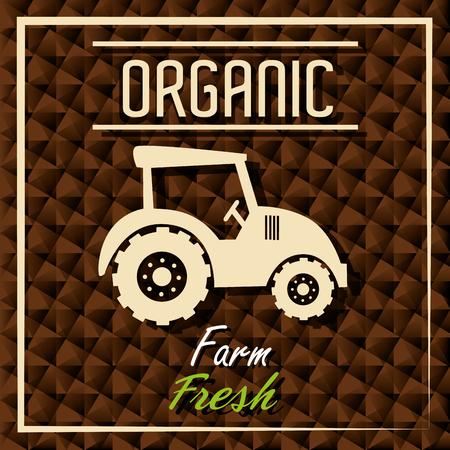 grahic: Farm fresh organic product grahic design, vector illustration