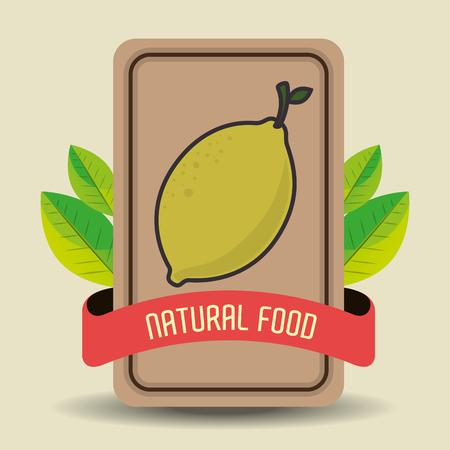 grahic: Natural food product grahic design, vector illustration eps10