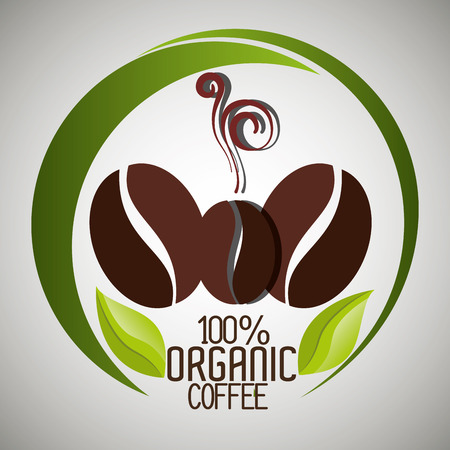 coffee crop: Delicious natural and organic coffee graphic design, vector illustration Illustration