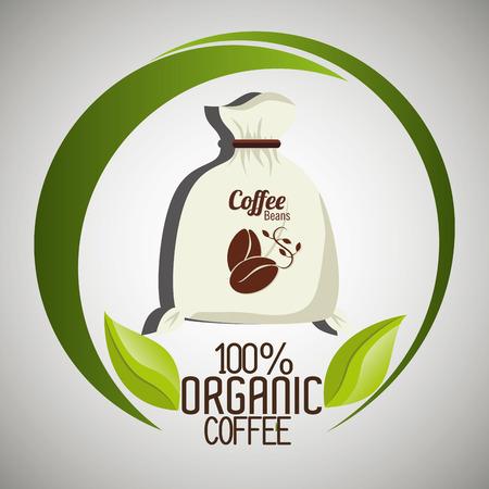 espresso: Delicious natural and organic coffee graphic design, vector illustration Illustration