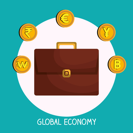 global economy: Money and global economy graphic design, vector illustration eps10