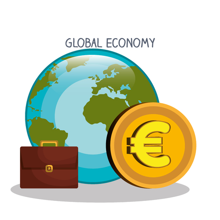 incomes: Money and global economy graphic design, vector illustration eps10
