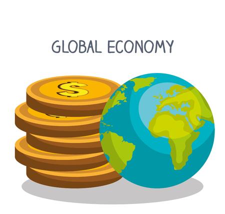 abundance: Money and global economy graphic design, vector illustration eps10
