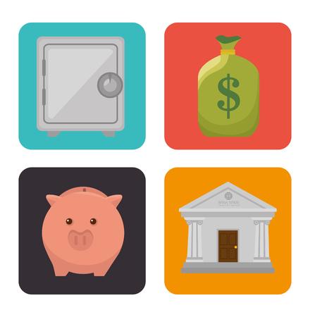 abundance: Bank money and investment graphic design, vector illustration eps10 Illustration