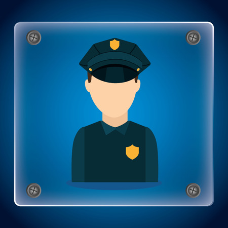 federal police: state police design, vector illustration eps10 graphic