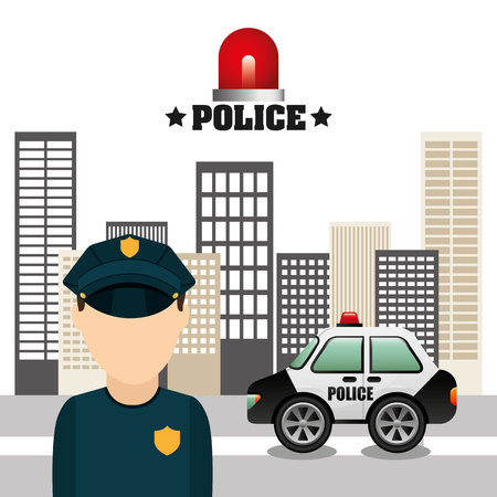 police state: state police design, vector illustration eps10 graphic