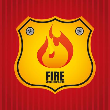 ladder safety: fire departament design, vector illustration eps10 graphic Illustration