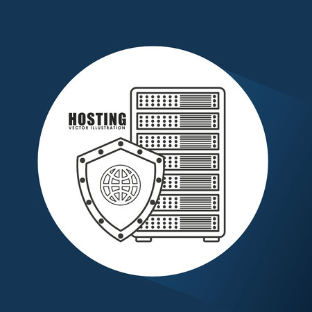 computer data: web hosting design, vector illustration eps10 graphic Stock Photo