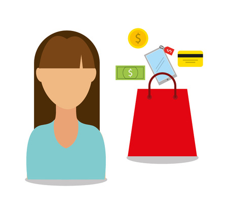 retail shopping: mobile payments design, vector illustration eps10 graphic