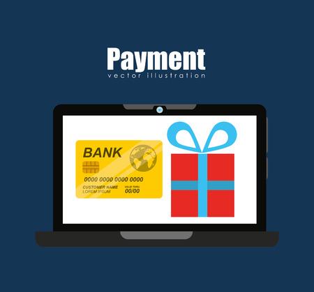 e cash: mobile payments design, vector illustration eps10 graphic
