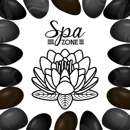 spa salon: spa zone design, vector illustration eps10 graphic