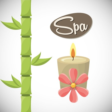 bamboo therapy: spa zone design, vector illustration eps10 graphic