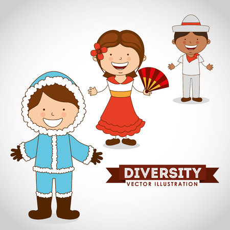 raze: diversity people design, vector illustration eps10 graphic