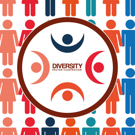 diverse business team: diversity people design, vector illustration eps10 graphic