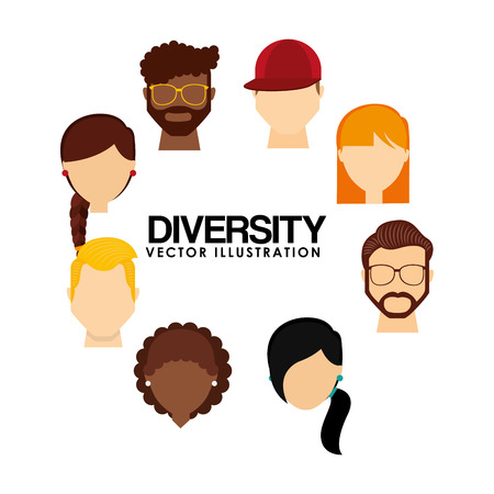 la conception de personnes de la diversité, illustration graphique eps10
