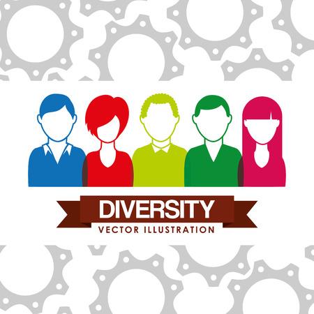 razas de personas: diseño de la gente de la diversidad, la ilustración vectorial gráfico eps10