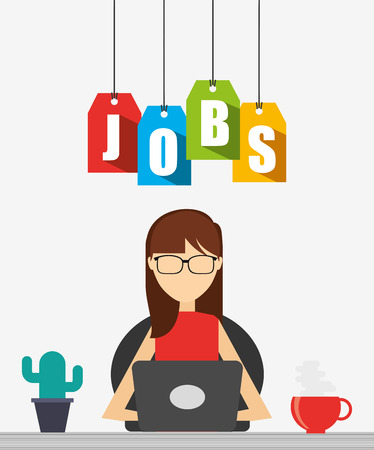 job icon: jobs concept design, vector illustration eps10 graphic