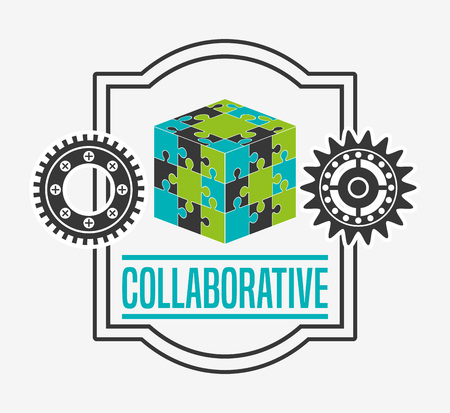 collaborative: collaborative concept design, vector illustration eps10 graphic Illustration